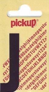 Sticker Buchstabe J, 60 mm schwarz