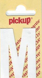 Sticker Buchstabe M, 60 mm weiß
