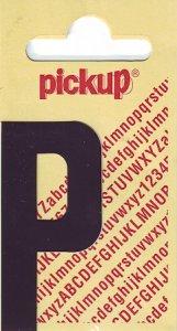 Sticker Buchstabe P, 60 mm schwarz