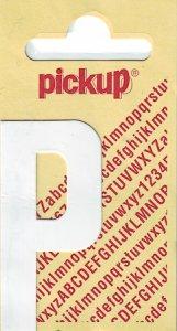 Sticker Buchstabe P, 60 mm weiß