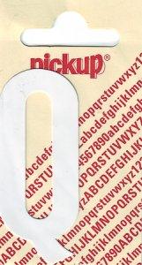 Sticker Buchstabe Q, 60 mm weiß