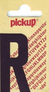 Sticker Buchstabe R, 60 mm schwarz