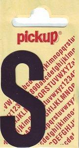 Sticker Buchstabe S, 60 mm schwarz