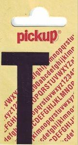 Sticker Buchstabe T, 60 mm schwarz