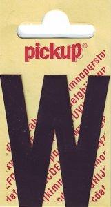 Sticker Buchstabe W, 60 mm schwarz