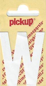 Sticker Buchstabe W, 60 mm weiß