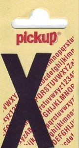 Sticker Buchstabe X, 60 mm schwarz