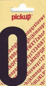 Sticker Ziffer 0, 90 mm schwarz