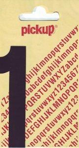 Sticker Ziffer 1, 90 mm schwarz