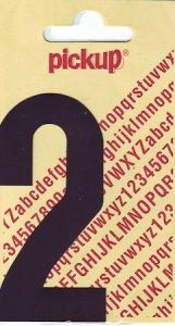 Sticker Ziffer 2, 90 mm schwarz