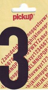 Sticker Ziffer 3, 90 mm schwarz