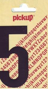 Sticker Ziffer 5, 90 mm schwarz