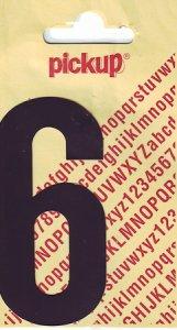 Sticker Ziffer 6, 90 mm schwarz