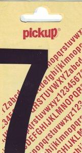 Sticker Ziffer 7, 90 mm schwarz