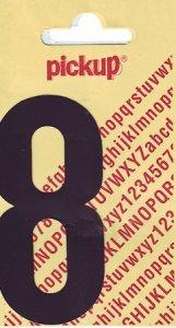 Sticker Ziffer 8, 90 mm schwarz
