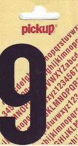 Sticker Ziffer 9, 90 mm schwarz