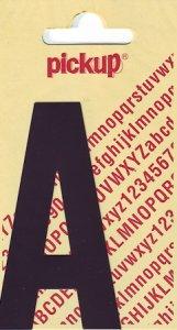 Sticker Buchstabe A, 90 mm schwarz