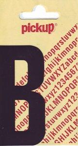 Sticker Buchstabe B, 90 mm schwarz