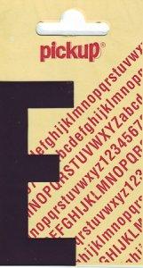 Sticker Buchstabe E, 90 mm schwarz
