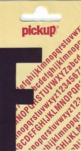 Sticker Buchstabe F, 90 mm schwarz