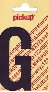 Sticker Buchstabe G, 90 mm schwarz