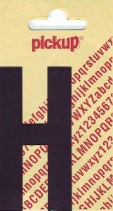 Sticker Buchstabe H, 90 mm schwarz