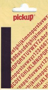 Sticker Buchstabe I, 90 mm schwarz