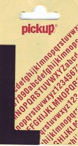 Sticker Buchstabe L, 90 mm schwarz