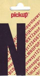 Sticker Buchstabe N, 90 mm schwarz