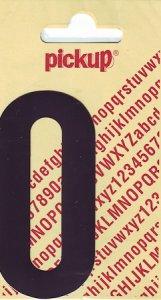 Sticker Buchstabe O, 90 mm schwarz