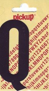 Sticker Buchstabe Q, 90 mm schwarz