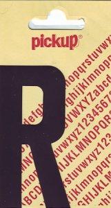 Sticker Buchstabe R, 90 mm schwarz
