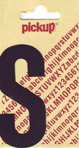 Sticker Buchstabe S, 90 mm schwarz