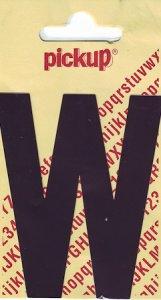 Sticker Buchstabe W, 90 mm schwarz