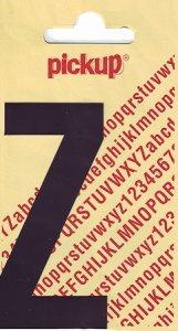 Sticker Buchstabe Z, 90 mm schwarz