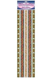 Stoff-Bordüren Festliche Bordüre mit Ornamenten
