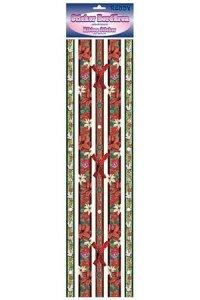 Stoff-Bordüren Festliche Bordüren mit Glasblümchen