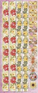 Präge-Sticker Rosenbordüren und Bilderecken