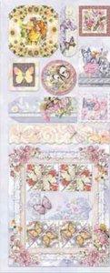 Präge-Sticker Spielende Schmetterlings-Feen beglimmert