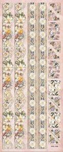 Präge-Sticker Bordüre mit Lilien-Elfe beglimmert