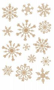 Rubbel-Sticker Goldene Schneeflocken