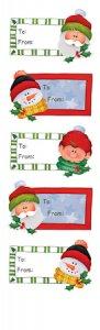 Rubbel-Sticker Geschenkanhänger Weihnachten klein