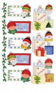 Rubbel-Sticker Geschenkanhänger Weihnachten transparent