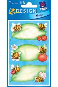 Schmucketiketten Bienen & Früchte