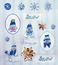 Handgefertigte 3D-Sticker Schneebälle zu verkaufen