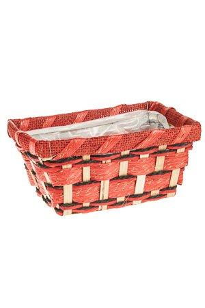 bambuskorb rechteckig rot natur. Black Bedroom Furniture Sets. Home Design Ideas