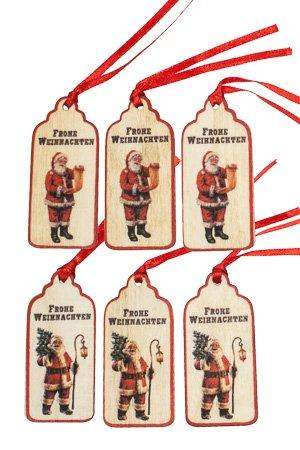 Frohe Weihnachten Anhänger.Anhänger Frohe Weihnachten Aus Holz 6er Set