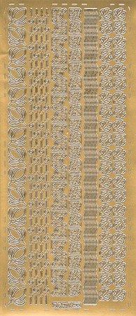 sticker 39 florale eck ornamente und bord ren 39 gold. Black Bedroom Furniture Sets. Home Design Ideas