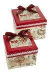 Geschenkbox Engel mit Schleife - 2er Set