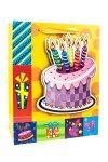 Geschenktüte Geburtstagstorte, 18 x 8 x 23 cm